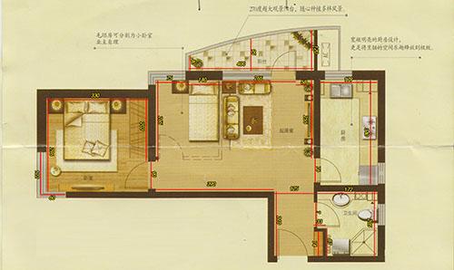 l型,图是上北下南,求大师瞅瞅房子怎么办好,客厅南面是邻居厨房,卧室图片