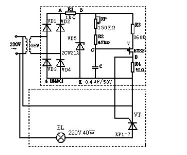 晶闸管调光电路图片