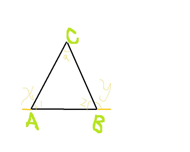 如图所示,x,y是三角形的两个外角的度数,则x y等于多少图片