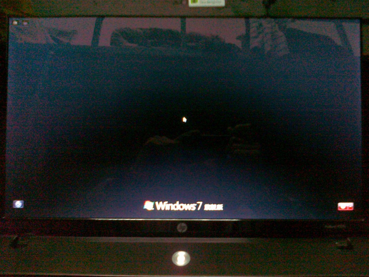 惠普笔记本装的win7旗舰版 用了启动修复后无法显示桌面 启高清图片