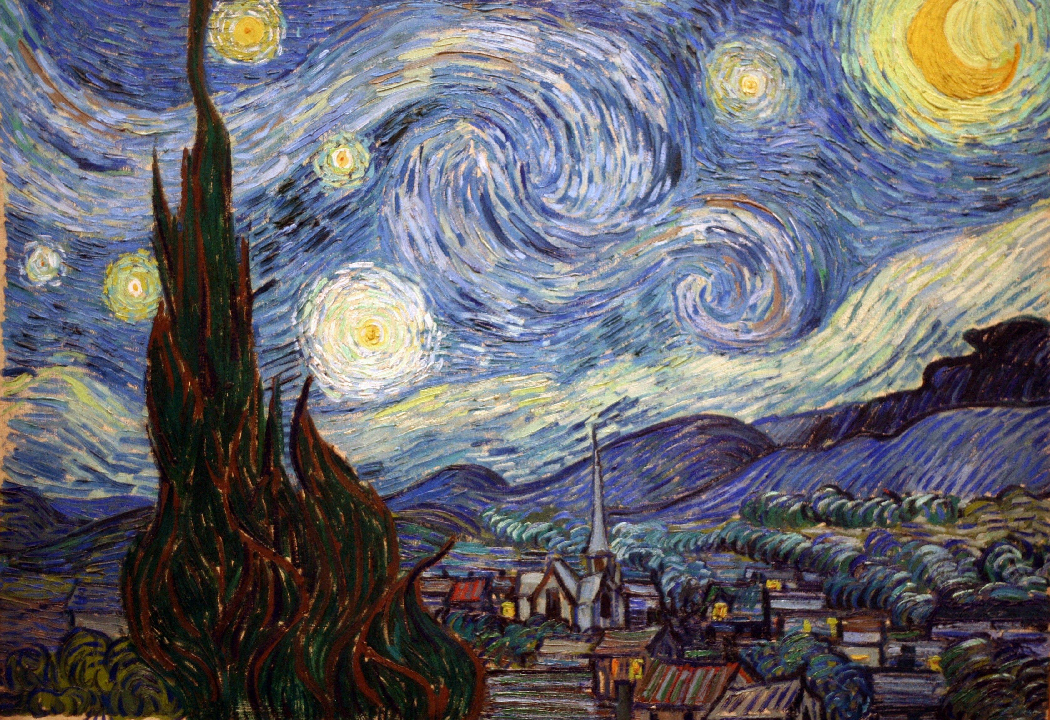 求安卓壁纸里面梵高《星空》原图图片