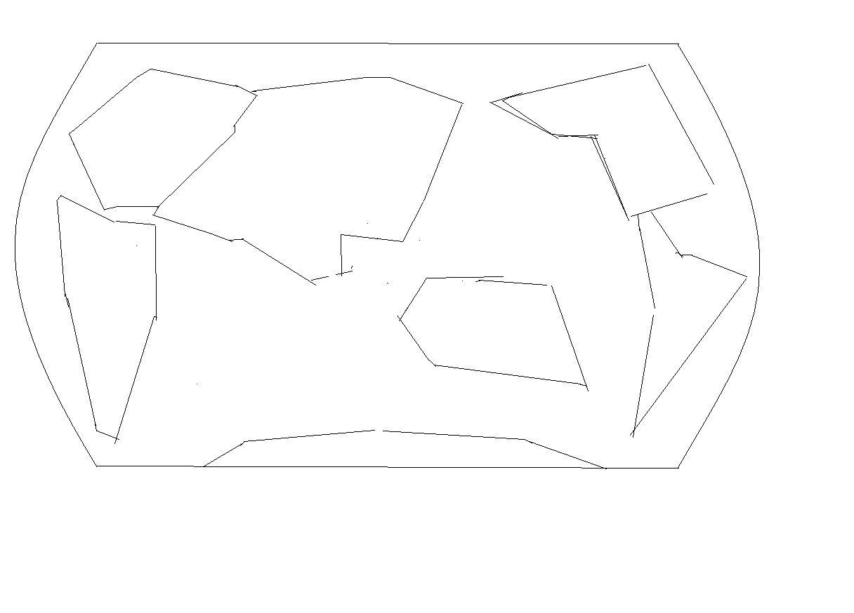 用几何图形画一张七大洲的世界地图.要图.
