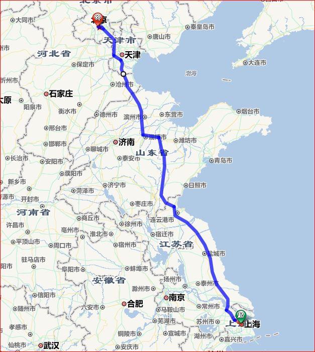 上海到北京自驾路线