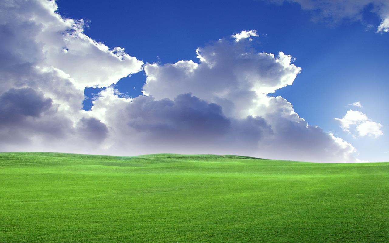 求xp桌面那有的那幅草原的壁纸