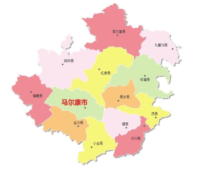 州�9k�yley�.���X{�zy_阿坝藏族羌族自治州的行政区划