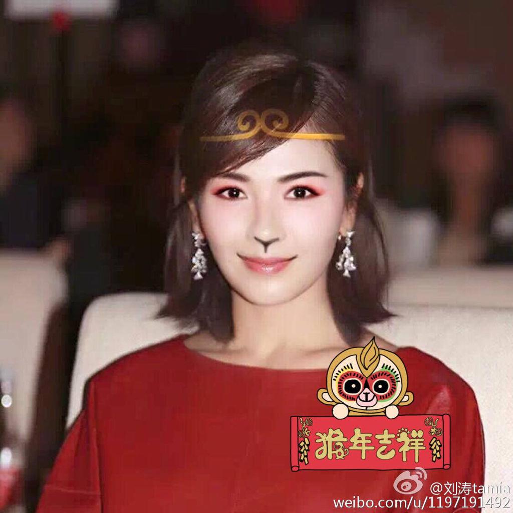 美女刘涛15款发型秀图片
