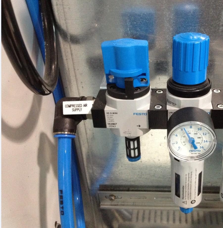 festo 过滤减压阀安装后,为什么打开开关阀,过滤减压阀排水口会漏气?图片
