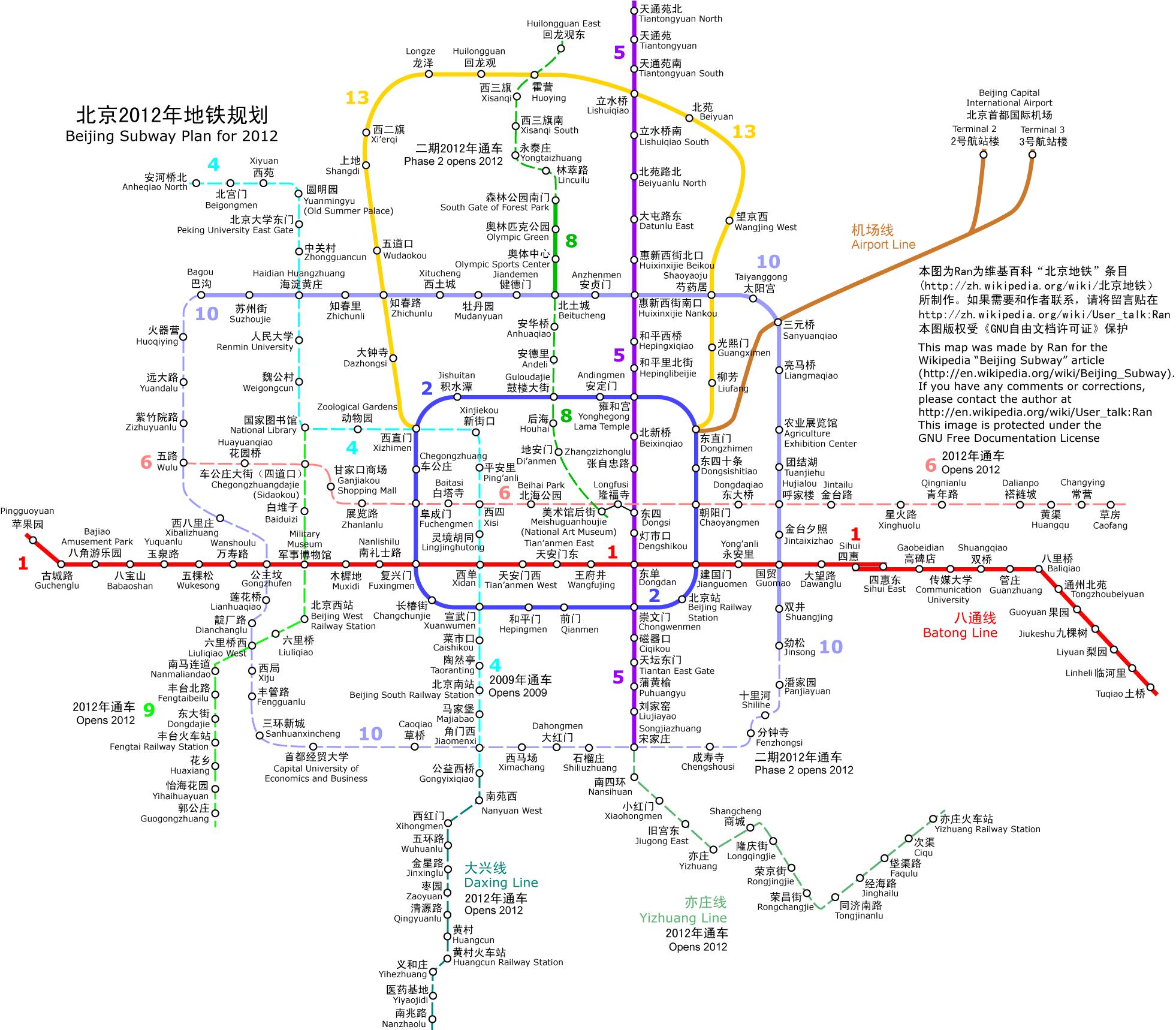 北京地铁昌平线线路图高清图片