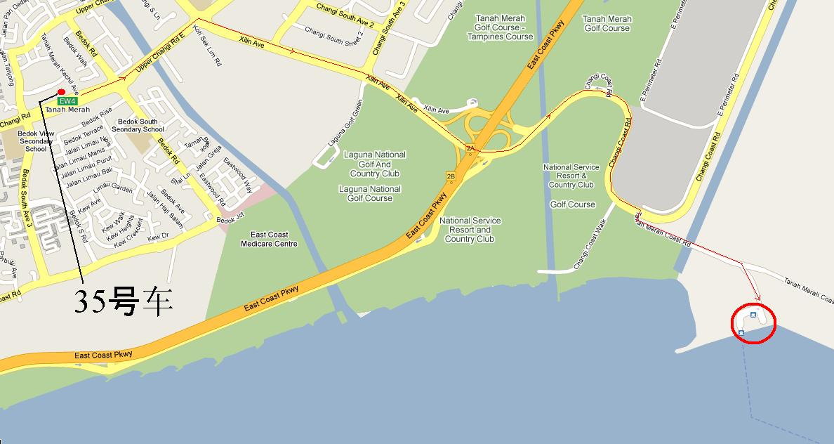 新加坡去民丹岛的码头