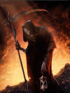 西方镰刀死神图片骷髅死神的镰刀图片死神镰刀图片