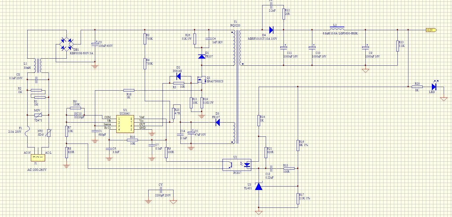 现在电路不烧了,能工作,但是,输出只有5.5v,改怎么调整?图片
