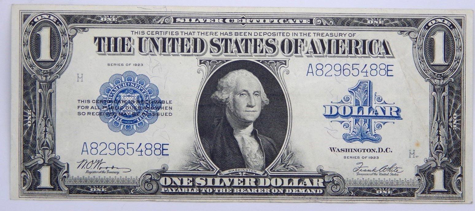 我收藏了一张1919年美元纸币