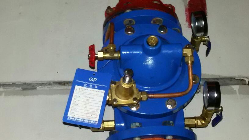 消防减压阀组可安装在地面上图片