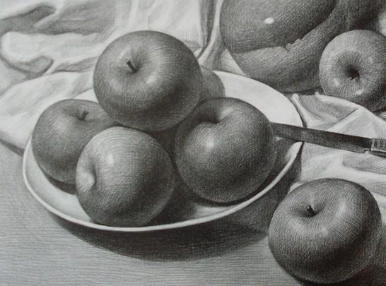 苹果素描图片图片