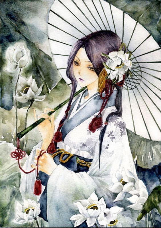 撑伞动漫头像_古风的撑伞少女,背影,简单一些,不要太复杂。谢谢了。_百度 ...