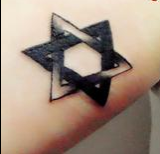 一个正三角和一个倒三角拼出来的图形纹身图片