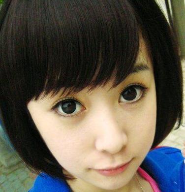 14岁女生短发图片