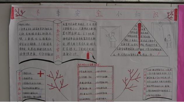 五年级冬季安全的手抄报,简单一点,急图片