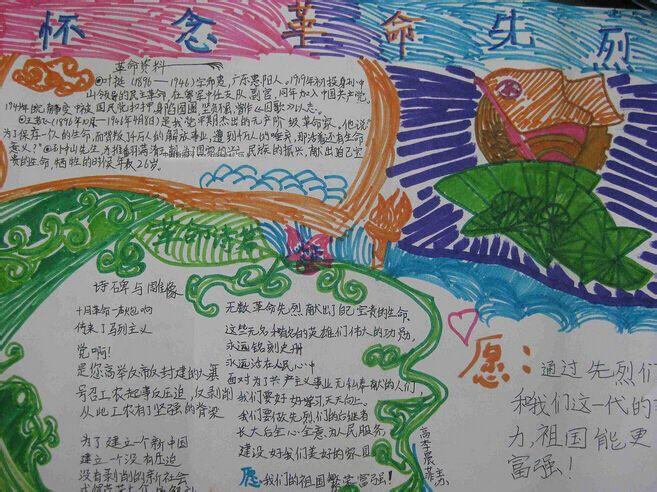 《铭记历史,圆梦中华》的手抄报图片