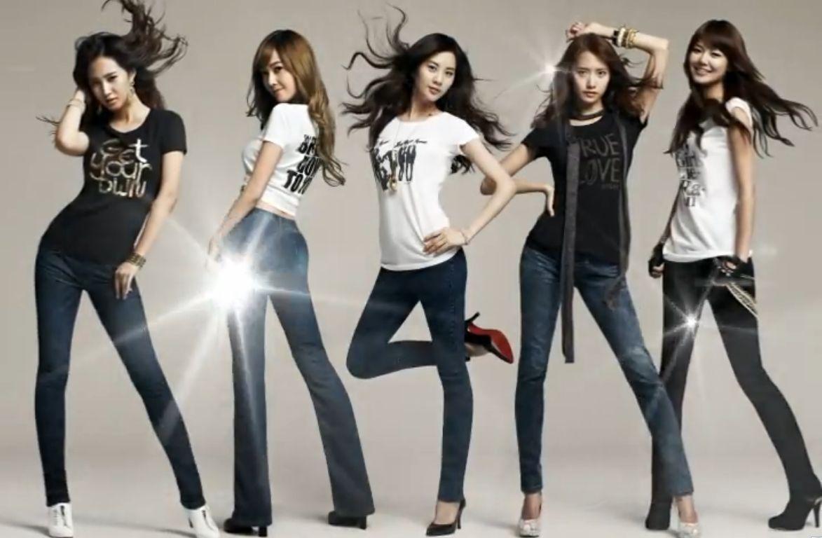 少女时代牛仔裤五人图片成员名字