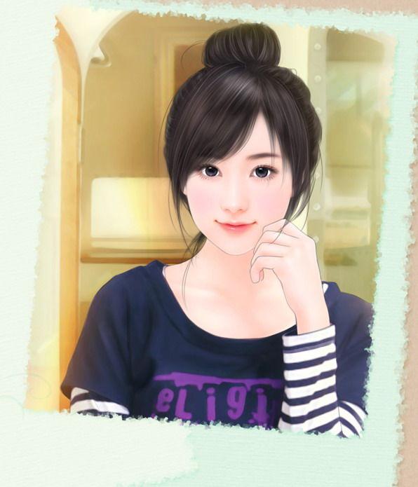 斜刘海怎么绑头发好看,不要像冬菇头那样,学生装图片