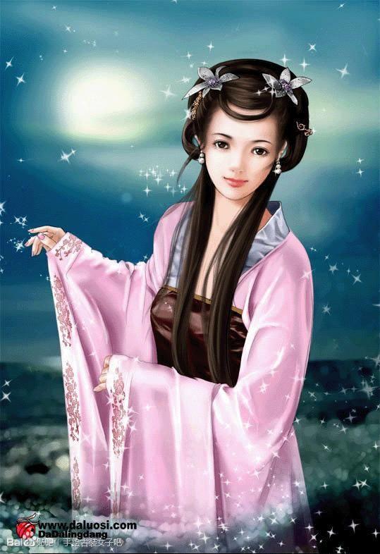 描写古代女子清纯可爱的外貌及服饰