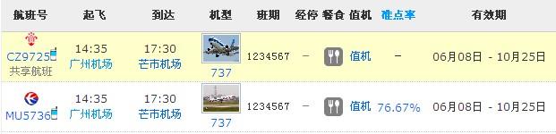 广州飞云南芒市要多久