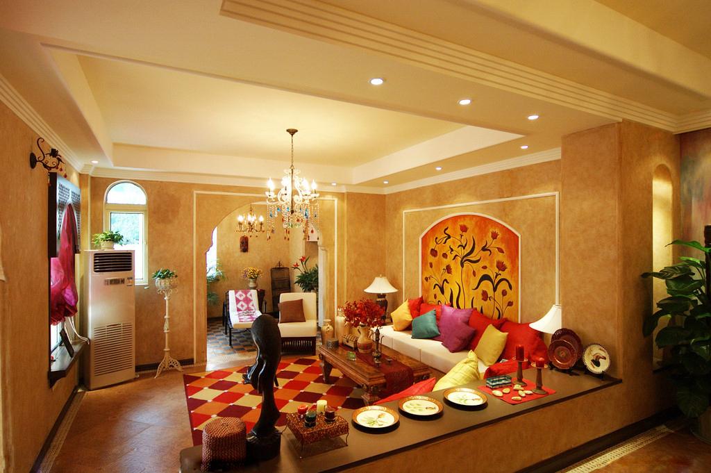 2),木材木质较硬,成为了印度风家庭装修的常备风格