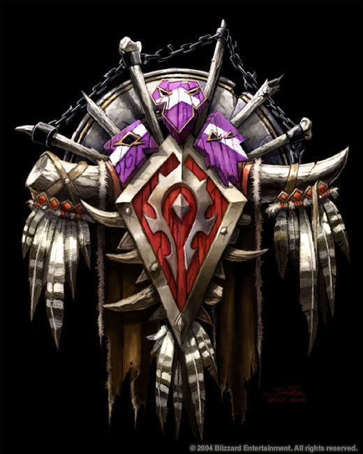 求魔兽世界部落标志
