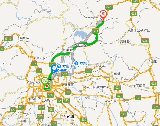 北京南站到古北水镇