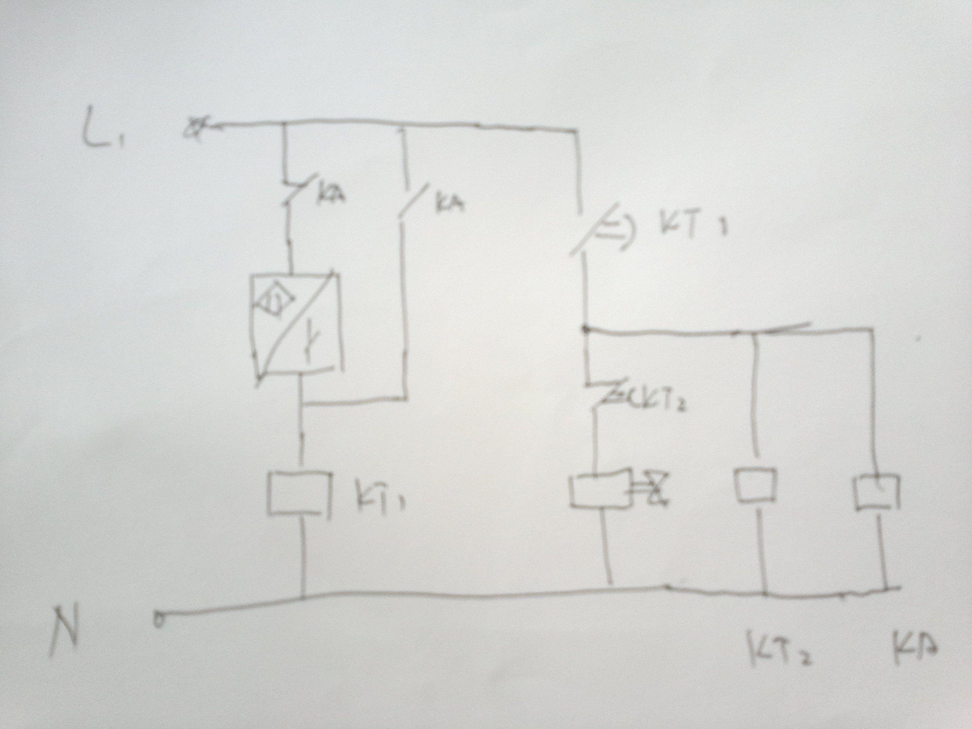 延时开关控制电磁阀接线图图片