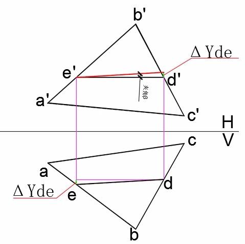 画法几何平面的倾角