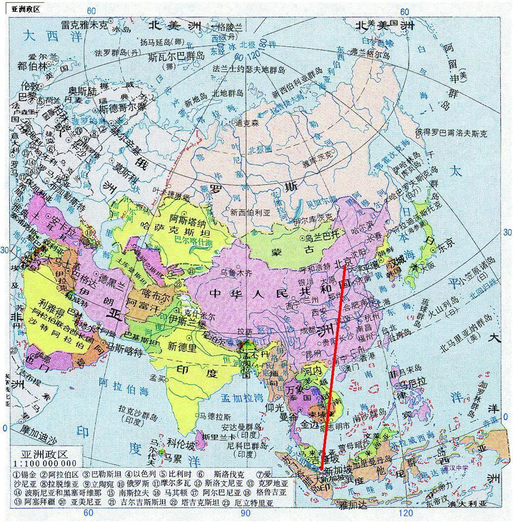 新加坡在中国地图位置