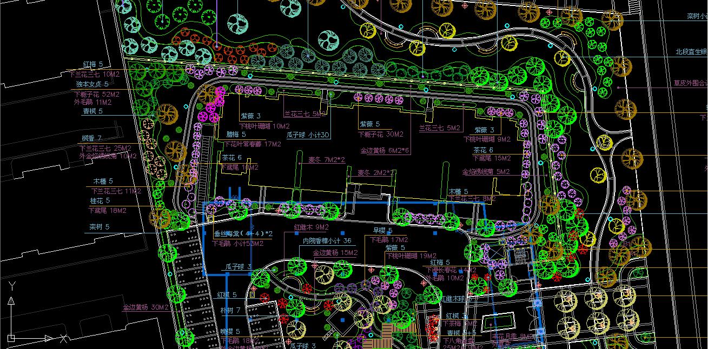 请问用cad怎样计算园林苗木的工程量呀图片