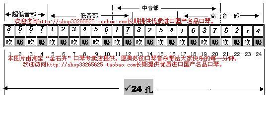 求hohner24孔复音口琴big图片