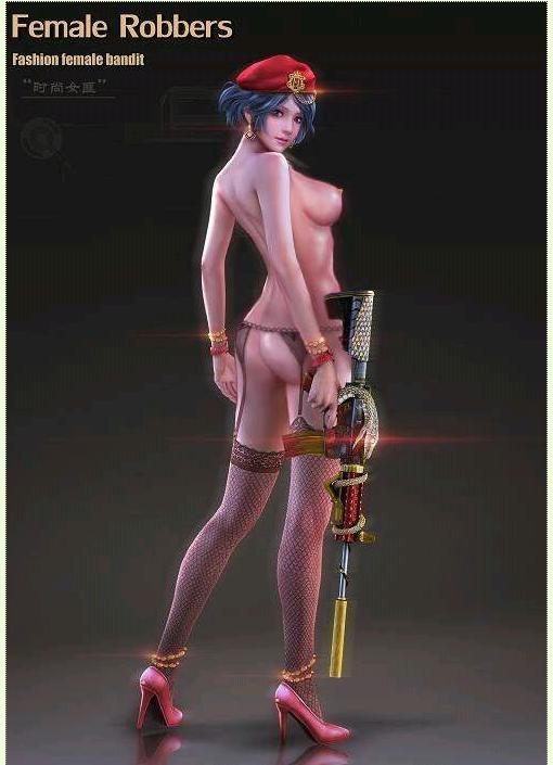 逆战美女角色图片裸身
