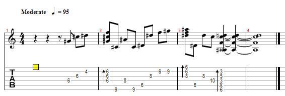 求windowsxp开机时的那一段音乐的吉他谱图片