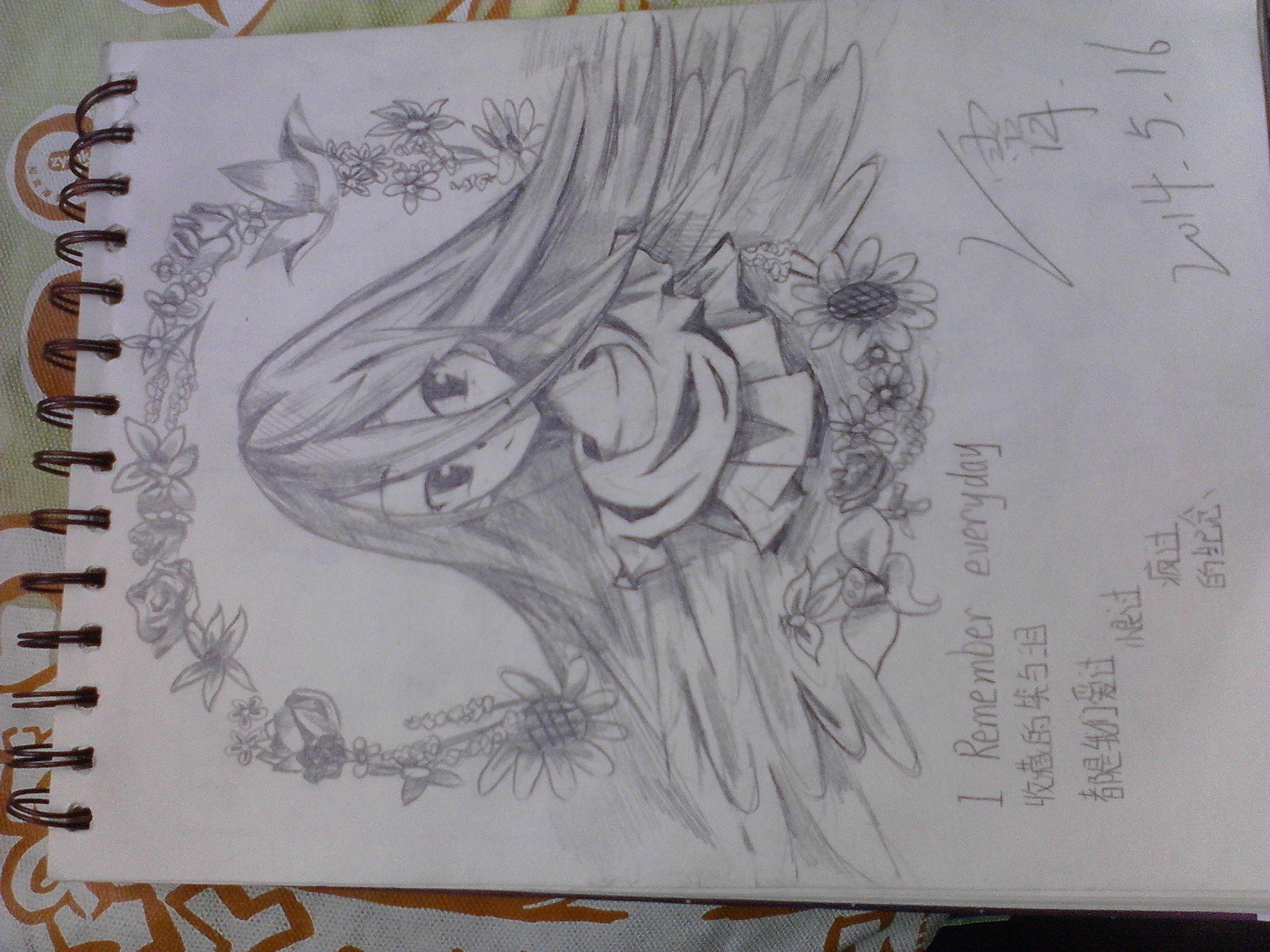 未来的我铅笔画 铅笔画小人 卡通少女铅笔画图片-,卡通萌图少女铅