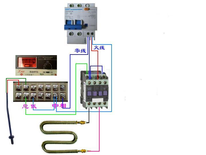 接线图 交流接触器接线图 双控开关接线图图片
