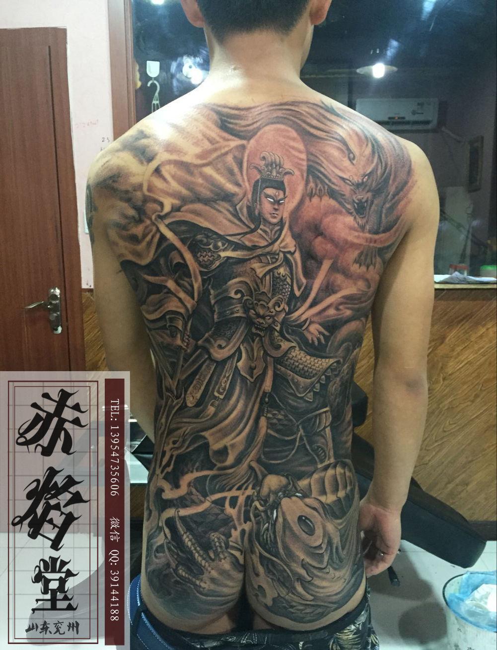 二郎神纹身底下接什么好看图片
