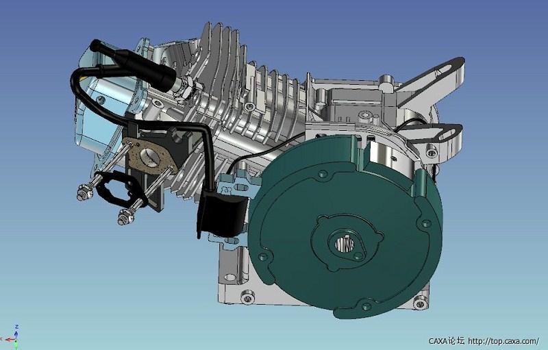 求单杆活塞式伺服液压缸caxa装配图?图片