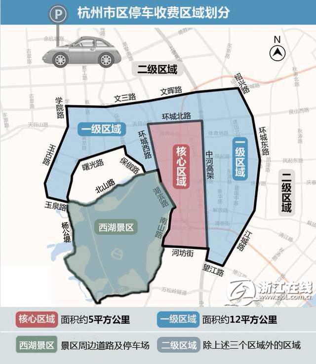 杭州景区停车费