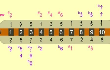 10孔布鲁斯口琴各个孔的发音及简谱,吹发什么音吸发什么音图片