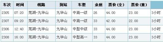 芜湖去九华山的高铁