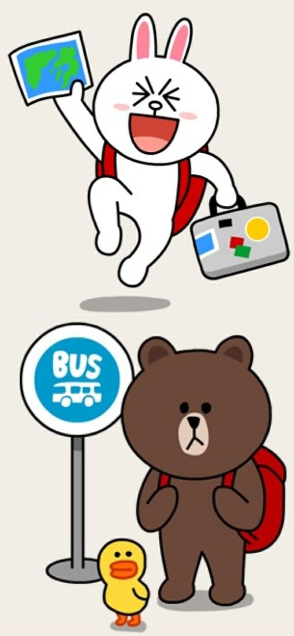 这个是日本一个社交软件--line的表情 角色叫妮可兔&nbsp图片