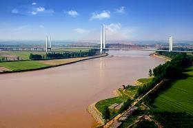 乌海在黄河的位置