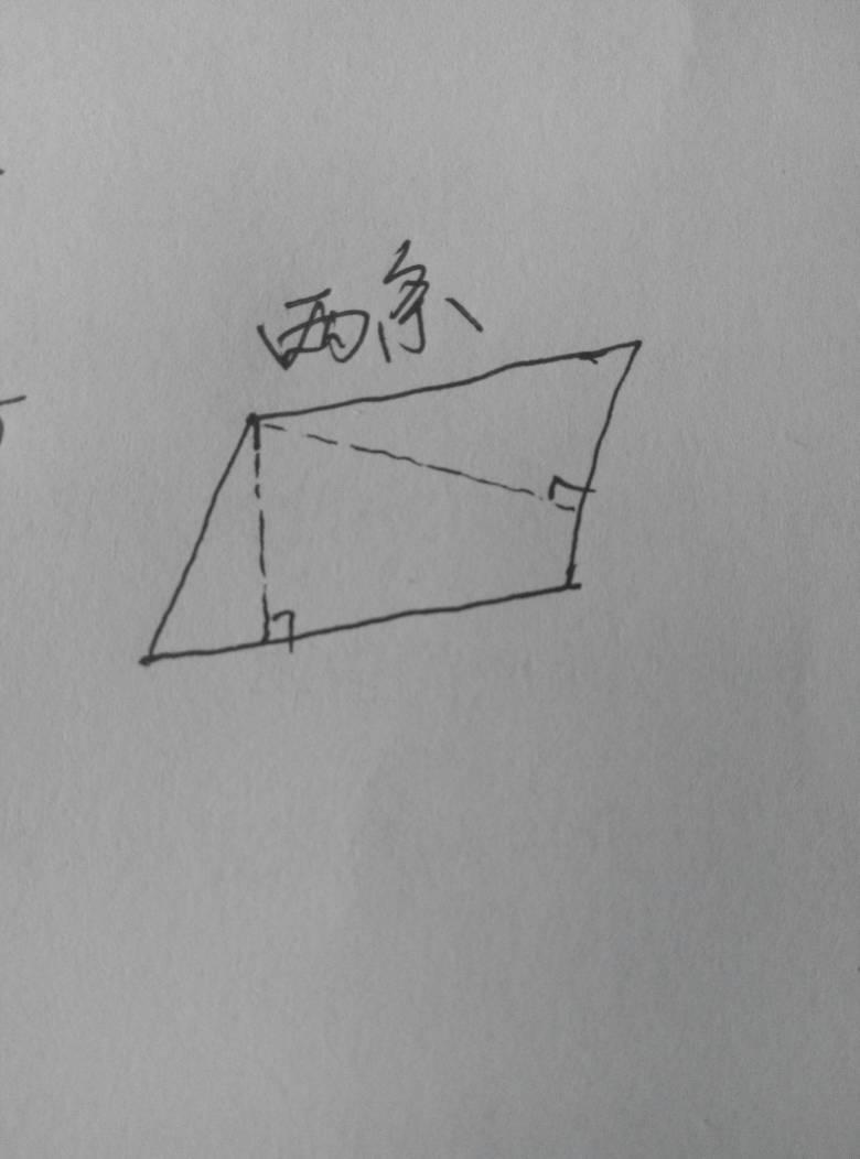 从平行四边形的一个顶点只能向对边画出一条高是对还是错图片