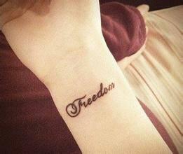 小美女手臂英文时尚纹身图片图片
