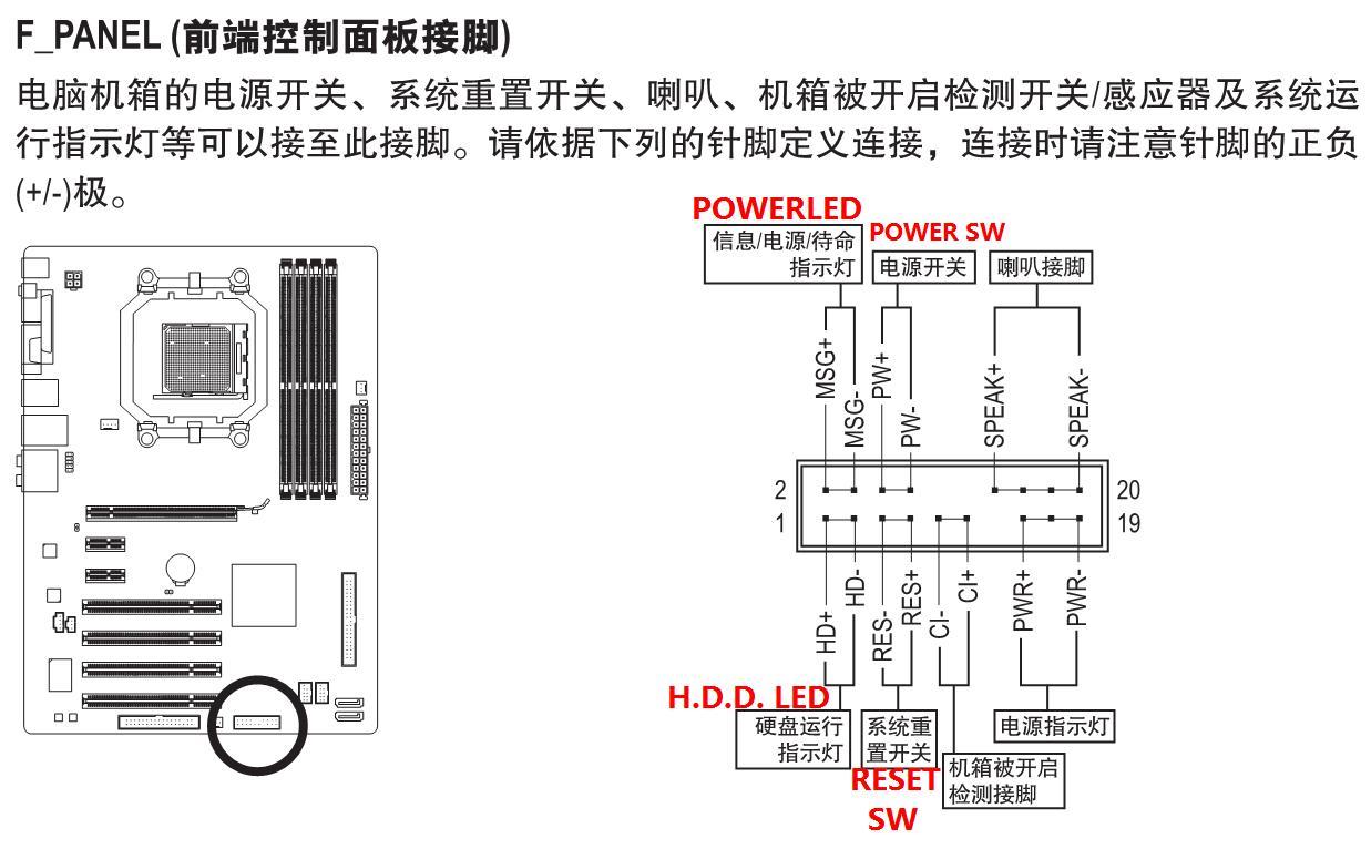 技嘉主板ga—m52l—s3p电源线接法图片