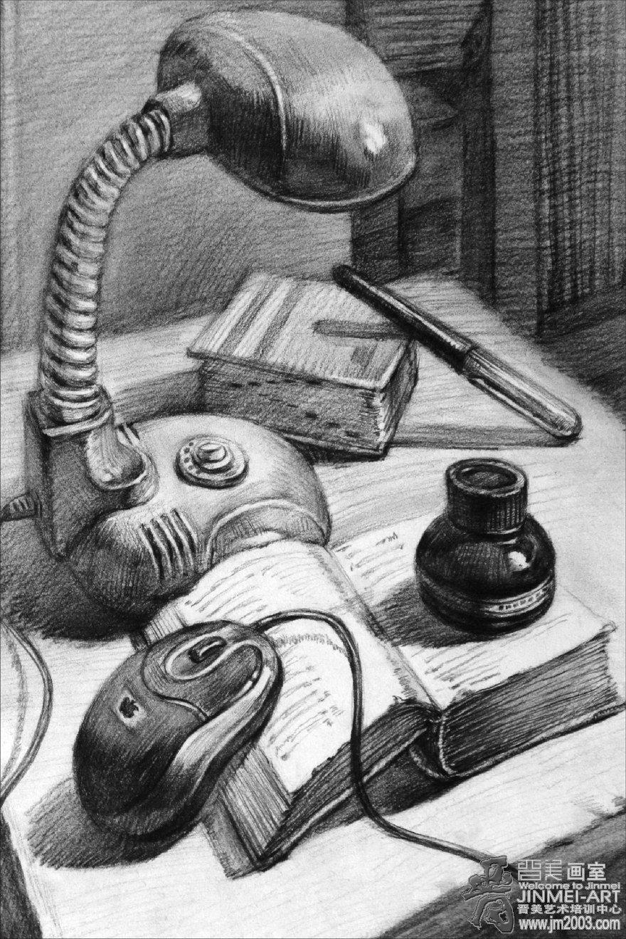 静物素描创意构图_静物素描创意构图画法图片